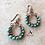 Thumbnail: Genuine turquoise and copper wire wrapped hoop earrings As seen on Cedar Cove
