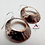 Thumbnail: Hammered textured domed copper artisan hoops hoop earrings