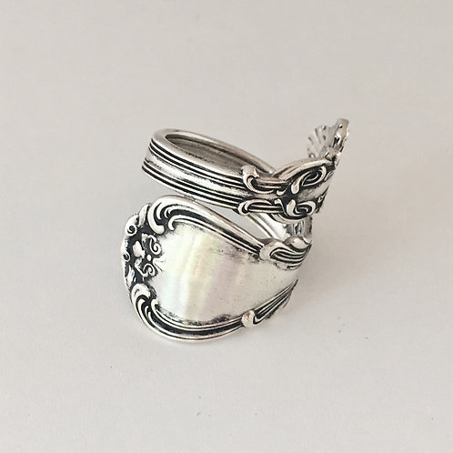 Solid sterling silver spoon ring