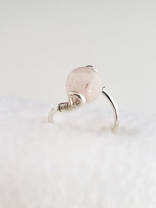 Rose quartz gemstone ring choose metal