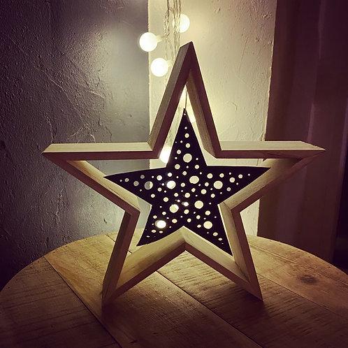 Étoile à poser en dentelle de chambre à air - Moyen modèle