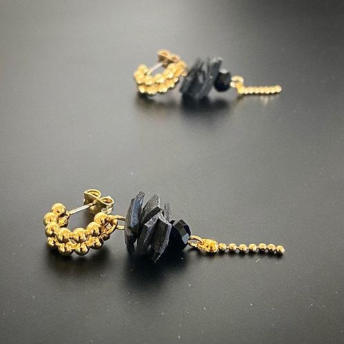 Boucles d'oreilles Mademoiselle dorées