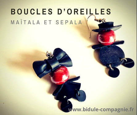 Boucles d'oreilles Maïtala et Sepala