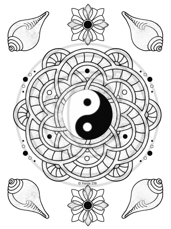 Yin Yang Mandala Power