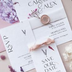 CAROLINE Romantic Invitation Suite