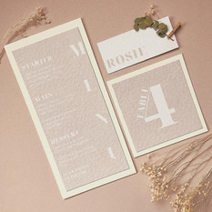 COLOUR BLOCK Neutral Table Stationery