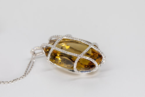 Бриллиантовый Кулон с Топазом Arnau