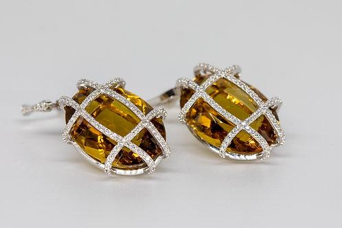Бриллиантовые Серьги с Топазом Arnau