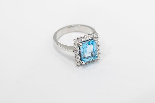 Бриллиантовое Кольцо с Аквамарином Arnau