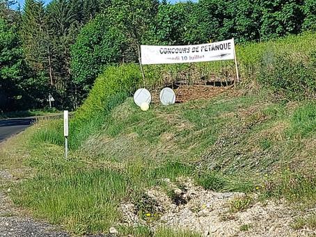 Attention concours de pétanque et tirage de la tombola de l'ACCA Le Chambon sur Lignon.