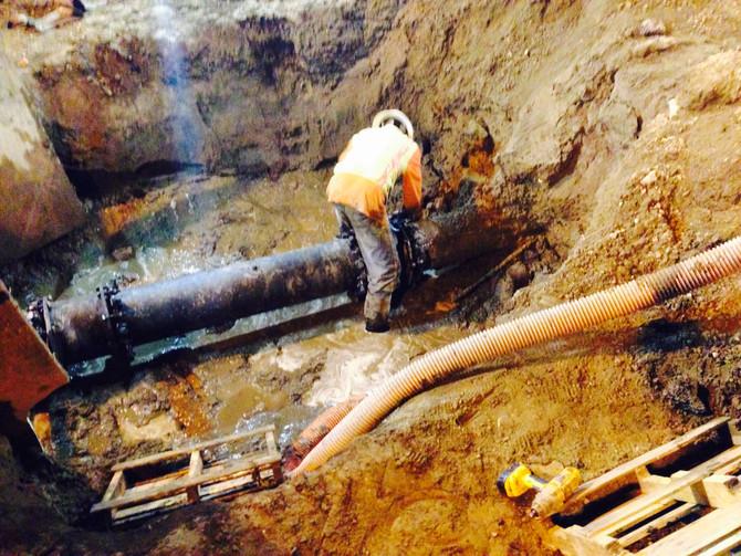 JBFP performs Fire Main repair