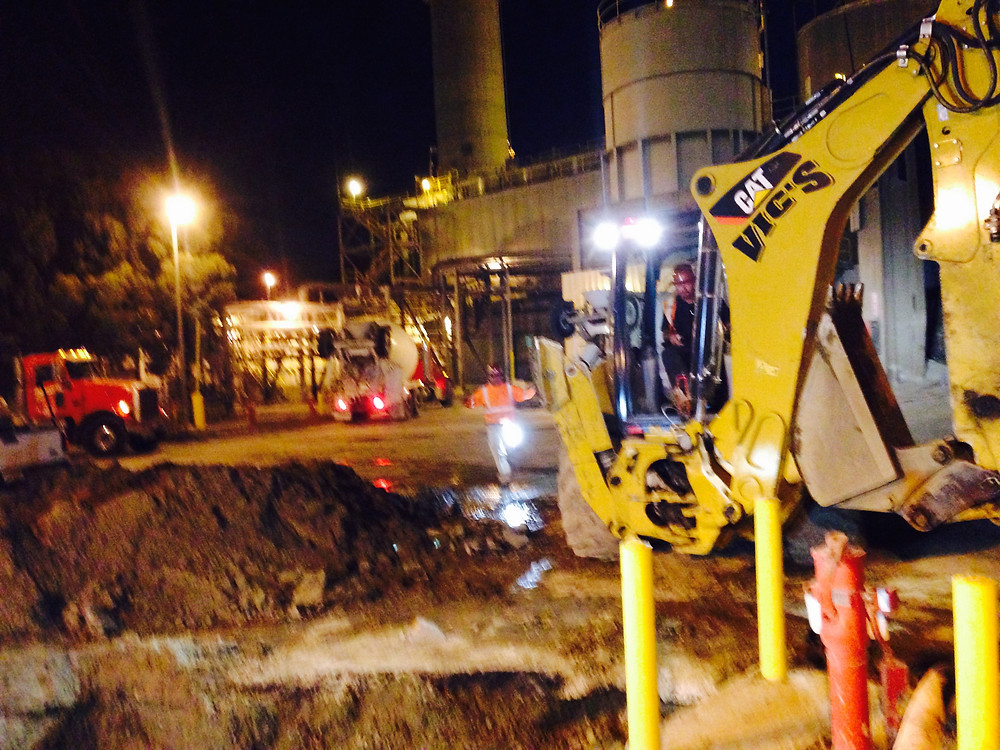 """Emergency after hours repair of 12"""" Ductile Iron Fire Main- Coventa Energy Plant San Pedro"""
