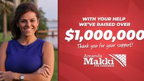 Amanda Makki Frontrunner Breaks $1 Million in Total Money Raised