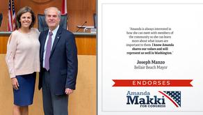 Belleair Beach Mayor Endorses Amanda Makki