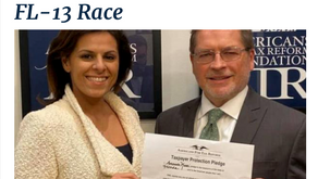 """Amanda Makki Signs """"No New Taxes"""" Commitment with Americans For Tax Reform's Grover Norquist"""