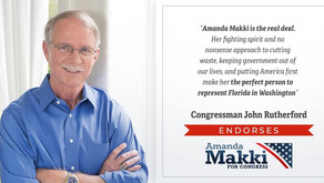 Florida Congressman and Former Duval County Sheriff Endorses Amanda Makki