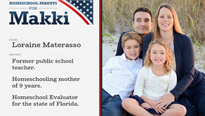 "Loraine Materasso Endorses and Heads Up ""Homeschoolers For Makki"""