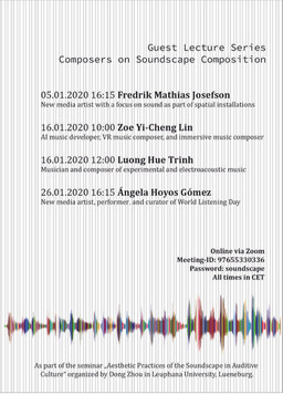 Online Lecture at Aesthetic Practices of the Soundscape in Auditive Culture, Leuphana University