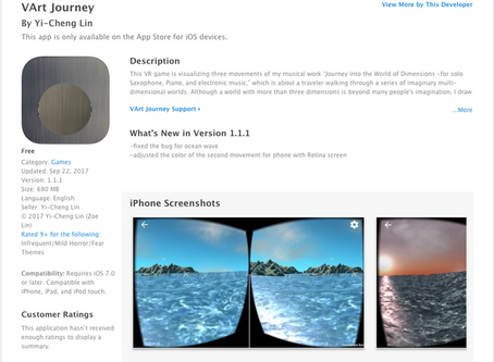 VR App 'Journey into the World of Dimensions'