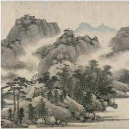 Zen In Suiboku-ga (Oriental Ink Wash Painting)