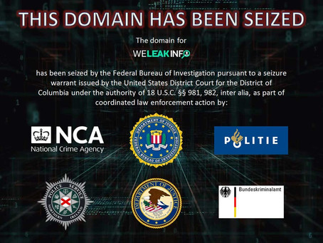 WeLeakInfo.com Seized For Selling Info from Data Breaches, 2 Arrested