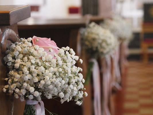Hochzeitsdekoration, Kirche, Trauung, freie Trauung