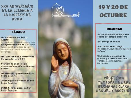 25 años de nuestra presencia en Ávila
