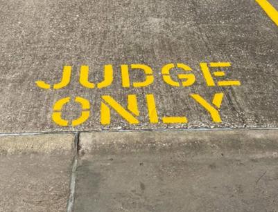 Parking Lot Paint Stencil Judge Only Parking