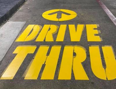Parking Lot Paint Stencil Drive Thru