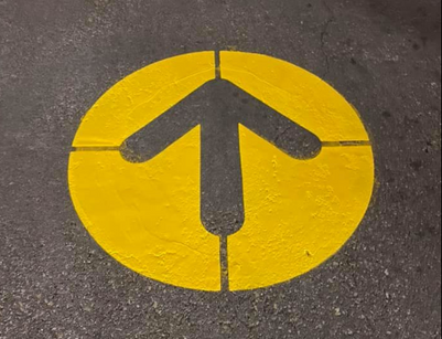 Parking Lot Directional Arrow
