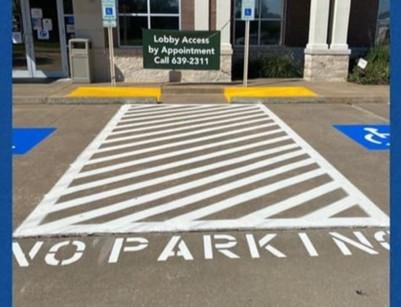 Parking Lot Paint Stencil No Parking