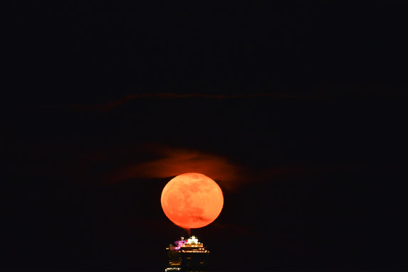 Moon over the Ship