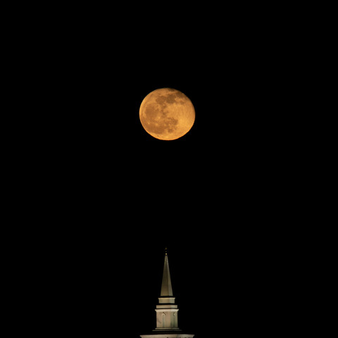 Moon Over the Temple
