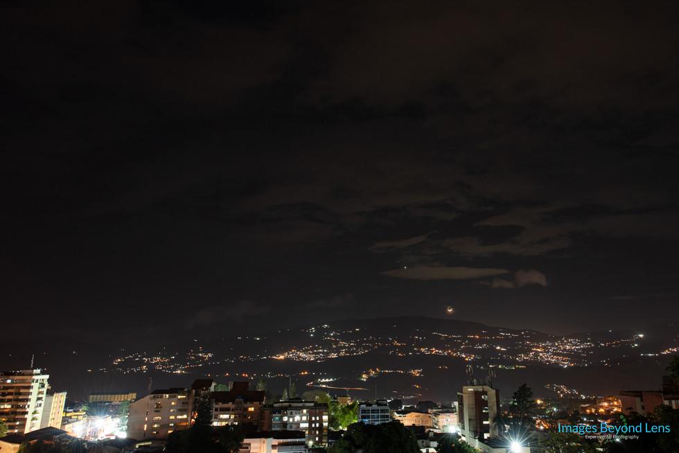 Venus and the Moon at San Cristobal