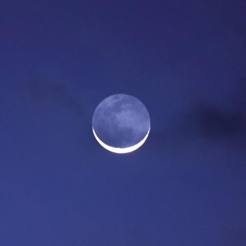 Earth Shine Moon