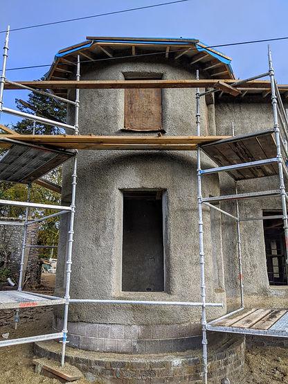 hempcrete two story house