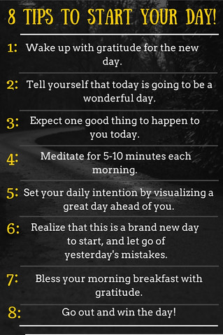 8 tips to start your day