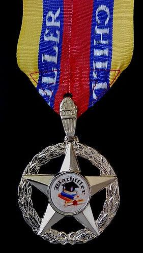 medalla 5 puntas de metal bachiller graduaciones progranasa