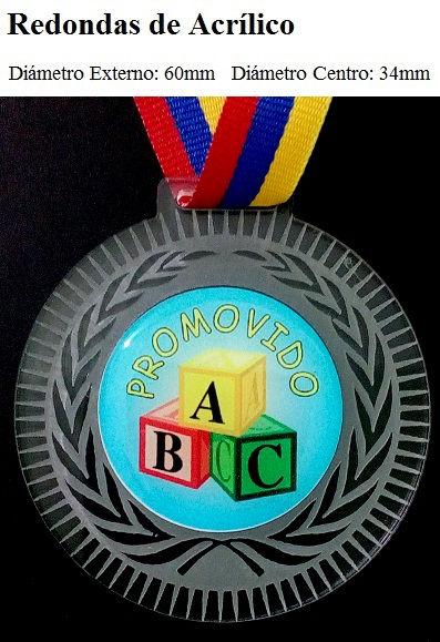 Medalla Redonda de Acrilico premiacion eventos progranasa