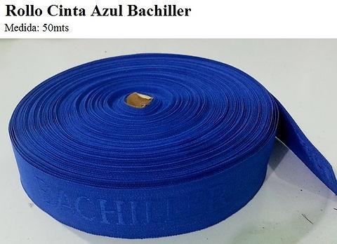 Rollo cinta azul bachiller 50 metros