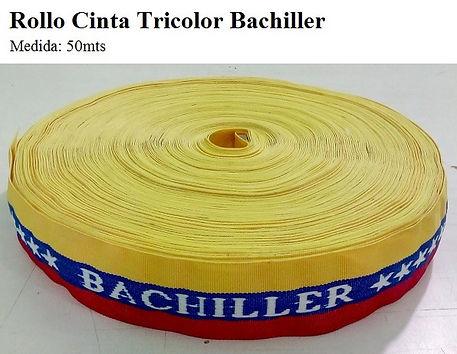 Rollo cinta tricolor bachiller 50 metros