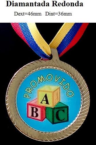 Medalla Redonda de metal pre-escolar sexto grado progranasa