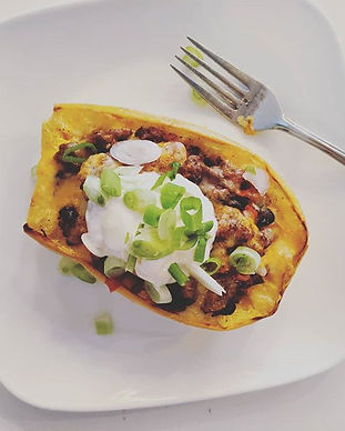 📜 NEW RECIPE - TEX MEX SPAGHETTI SQUASH