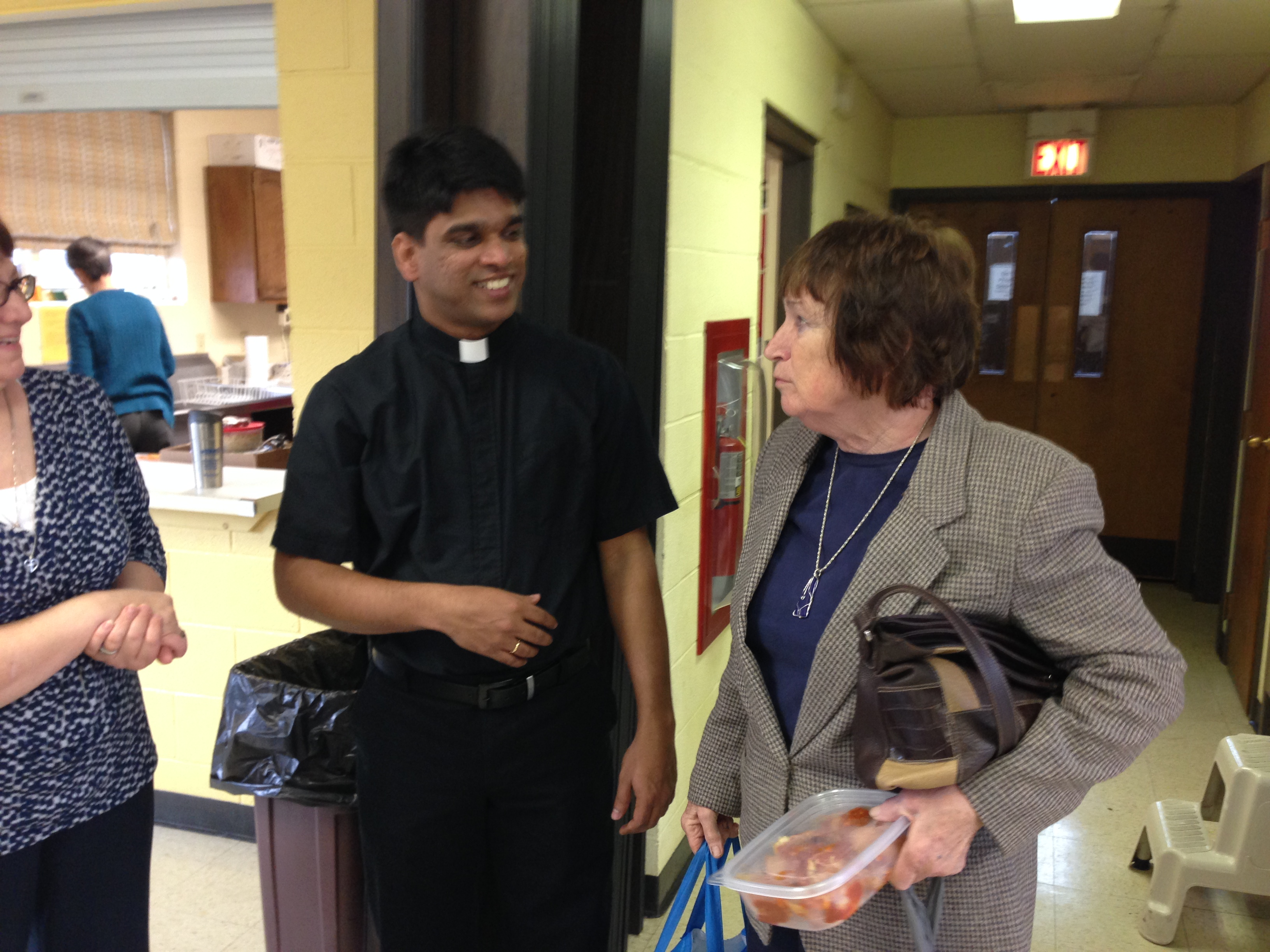 Parishioners and Fr Joseph