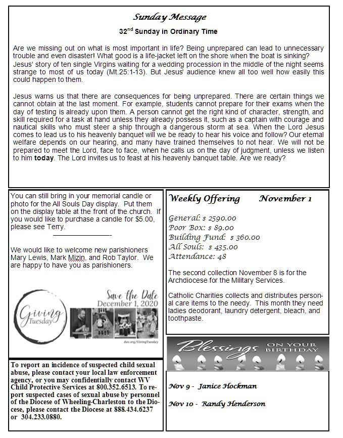 Bulletin November 8th 2020 2.JPG