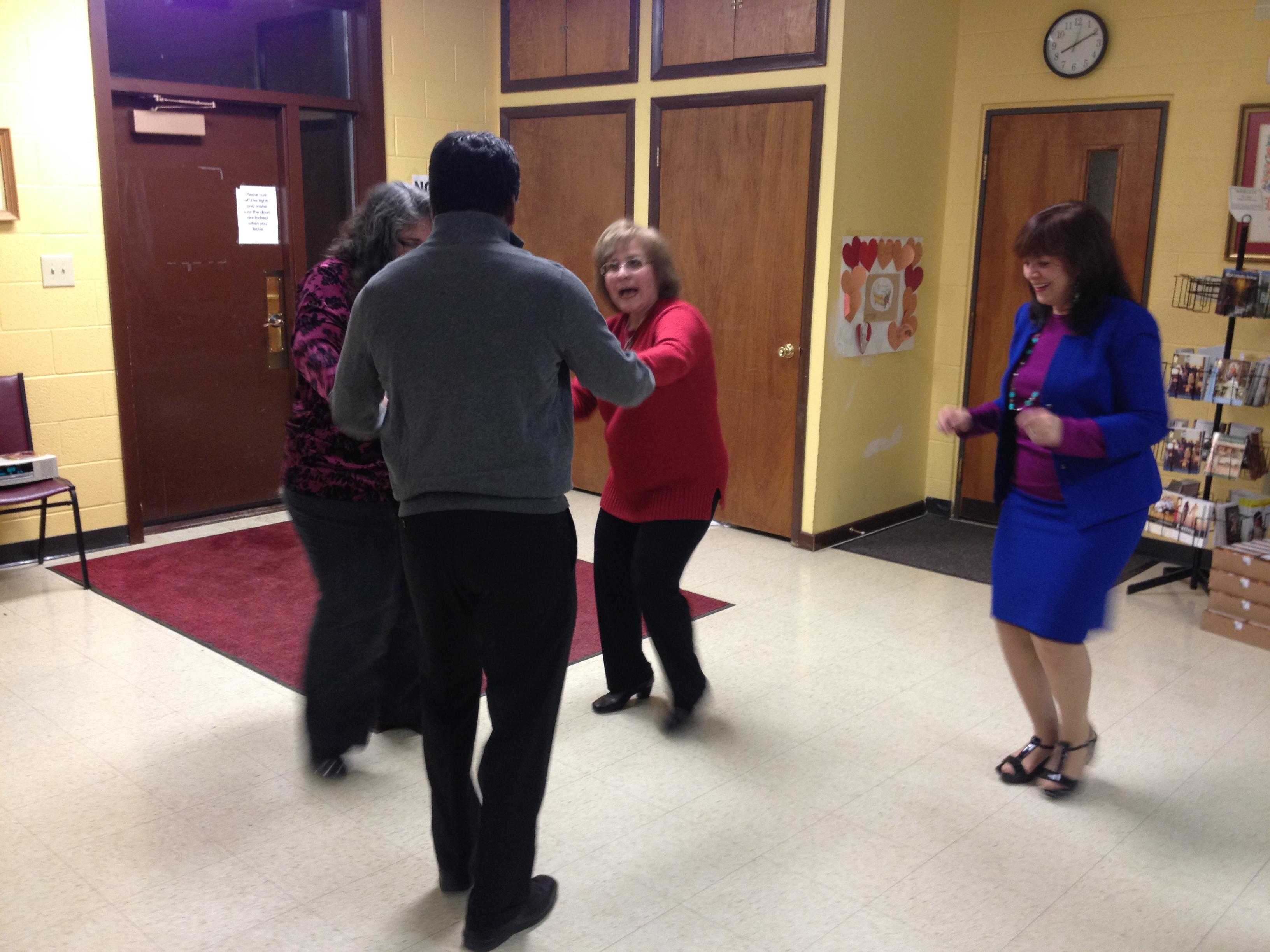 Fr Joseph Dancing at Sadie Hawkins dance