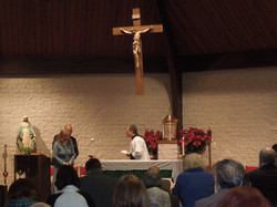 Altar at Father Joseph last Mass OLG
