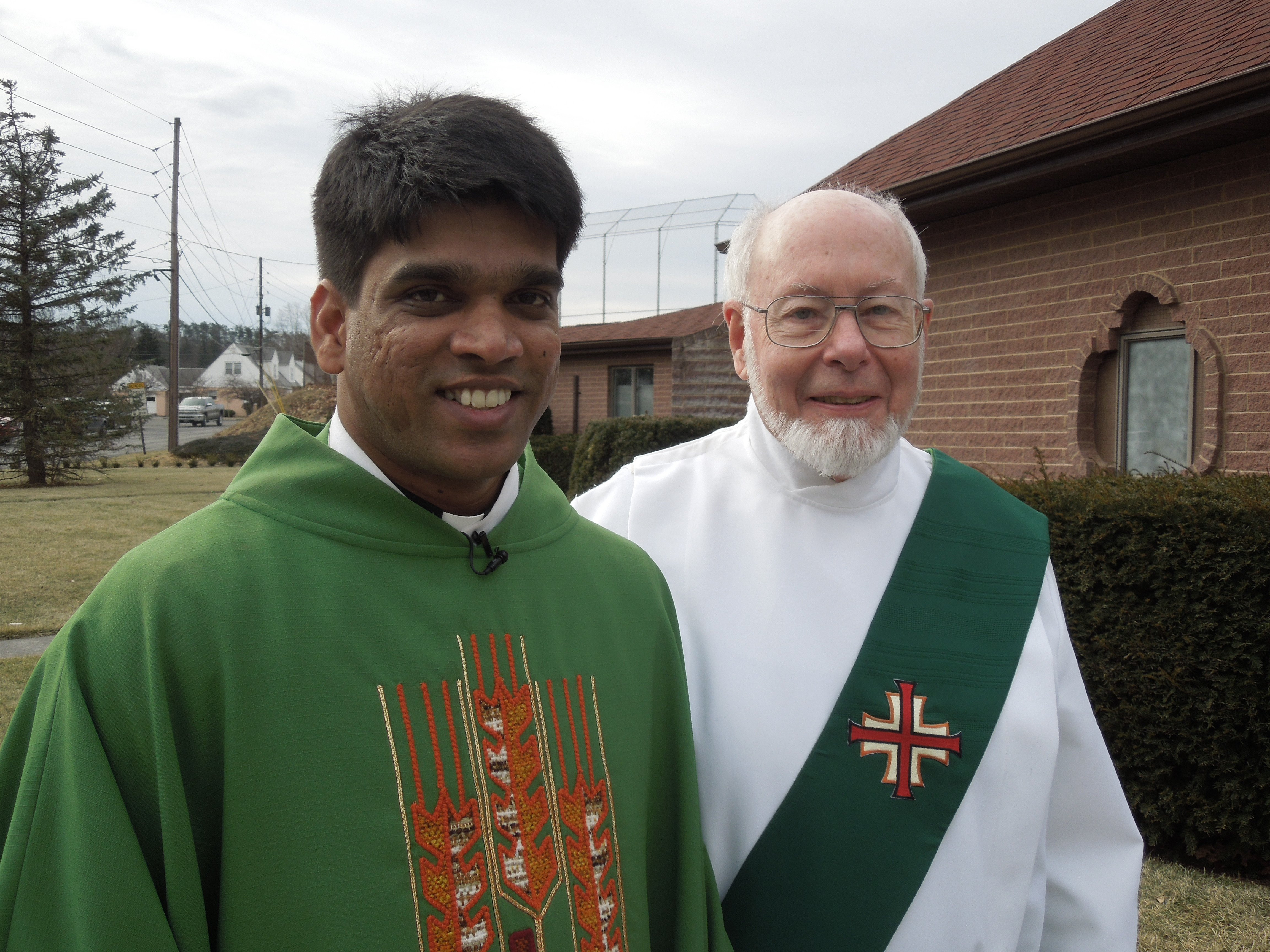 Deacon Larry and Fr Joseph