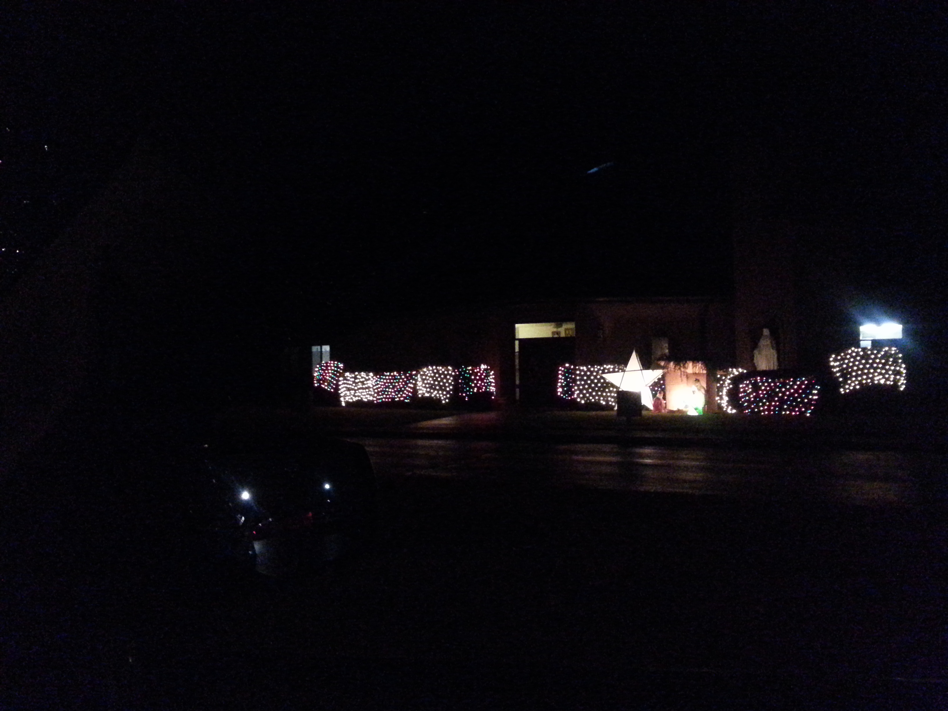 Christmas Eve Church outside