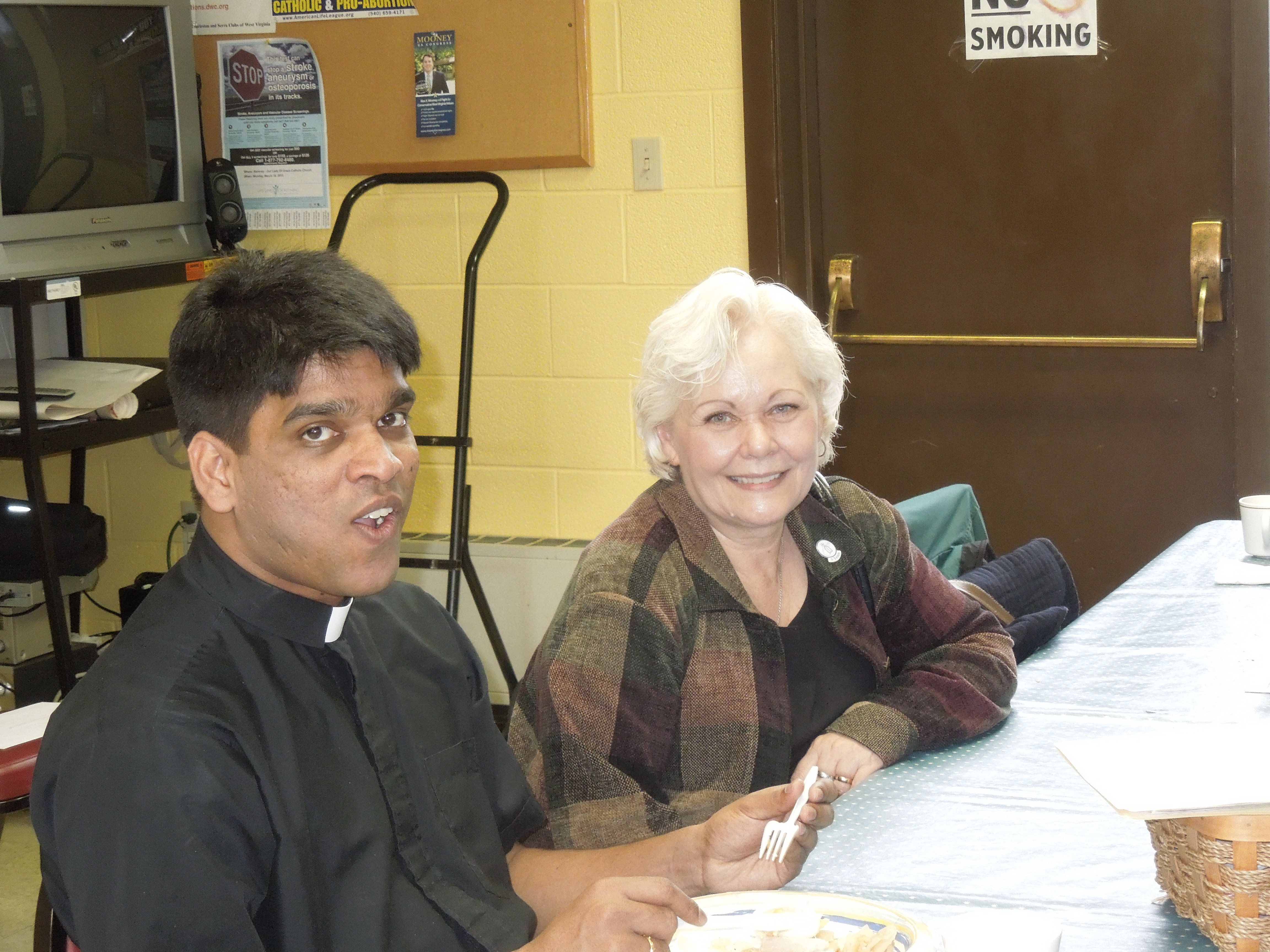 Parishioner and Fr Joseph